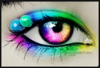 perception, rainbow eyes