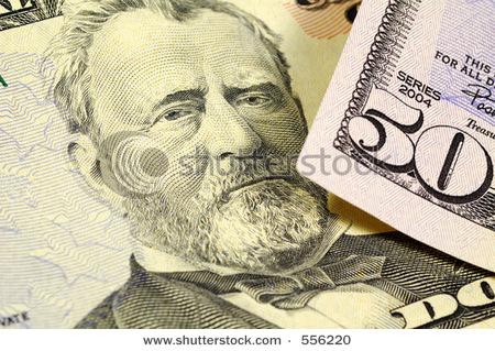 Freshly Pressed Fifty Dollar Bill