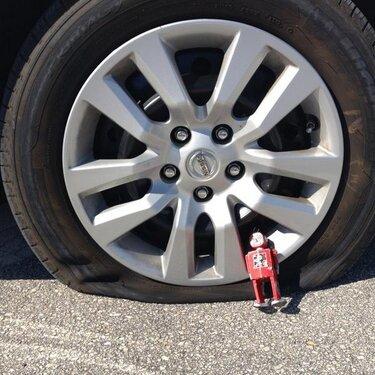 Flat tire man
