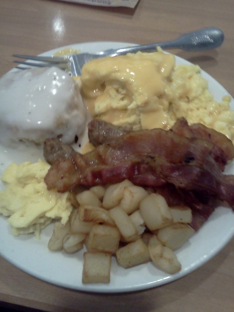 I love eating breakfast at Shoney's