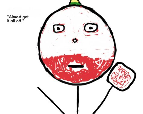 half cake face