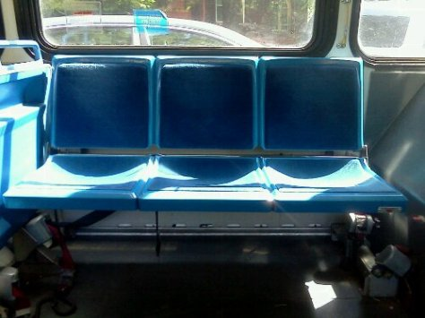 bus seats that put a crick in your neck