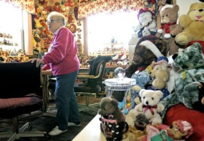 7,000 plus bears reside in the office of U.S. District Judge Karen Marie.