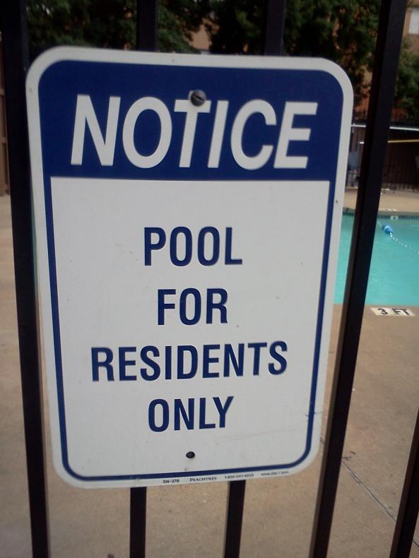 pool notice