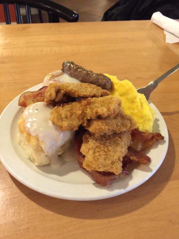 One of several plates I had at Shoney's.