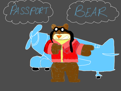 Passport Bear pose