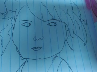 girl line portrait